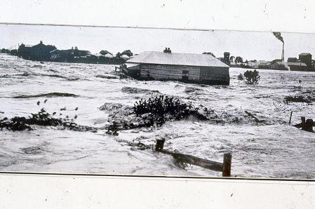 West Maitland in flood, May 1913