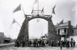 C917-0294 Centenary Coal Arch, Burwood and Hunter Streets, 1897