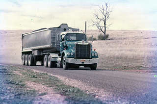 Hunter Valley Coal - Road Haulage. From the collection of Dr John Turner.