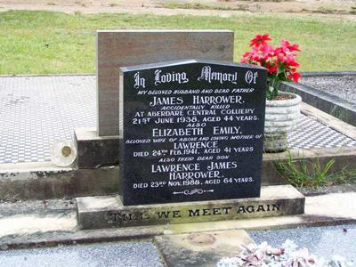 Headstone of James Harrower