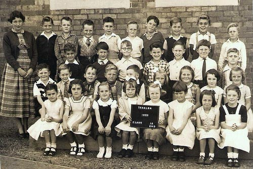 Classes 1A and 2nd. Teralba Primary School, 1955