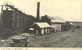 Coke ovens at Wallsend [1870s]. Published by C.E. Hulse, Stationer, Wallsend. From the Newcastle and Hunter District Historical Society Archives, University of Newcastle, Cultural Collections.