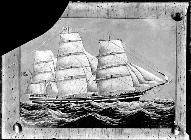Painting of unidentified ship