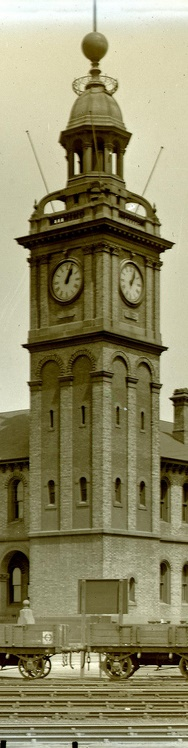Customs House Clock Tower Newcastle, Ralph Snowball, 1900