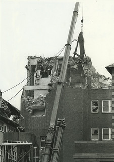 Earthquake damage to the York wing of the old Royal Newcastle Hospital, Australia - c.1990