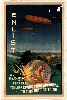 World War I enlistment poster, c. 1915. UoN Cultural Collections.