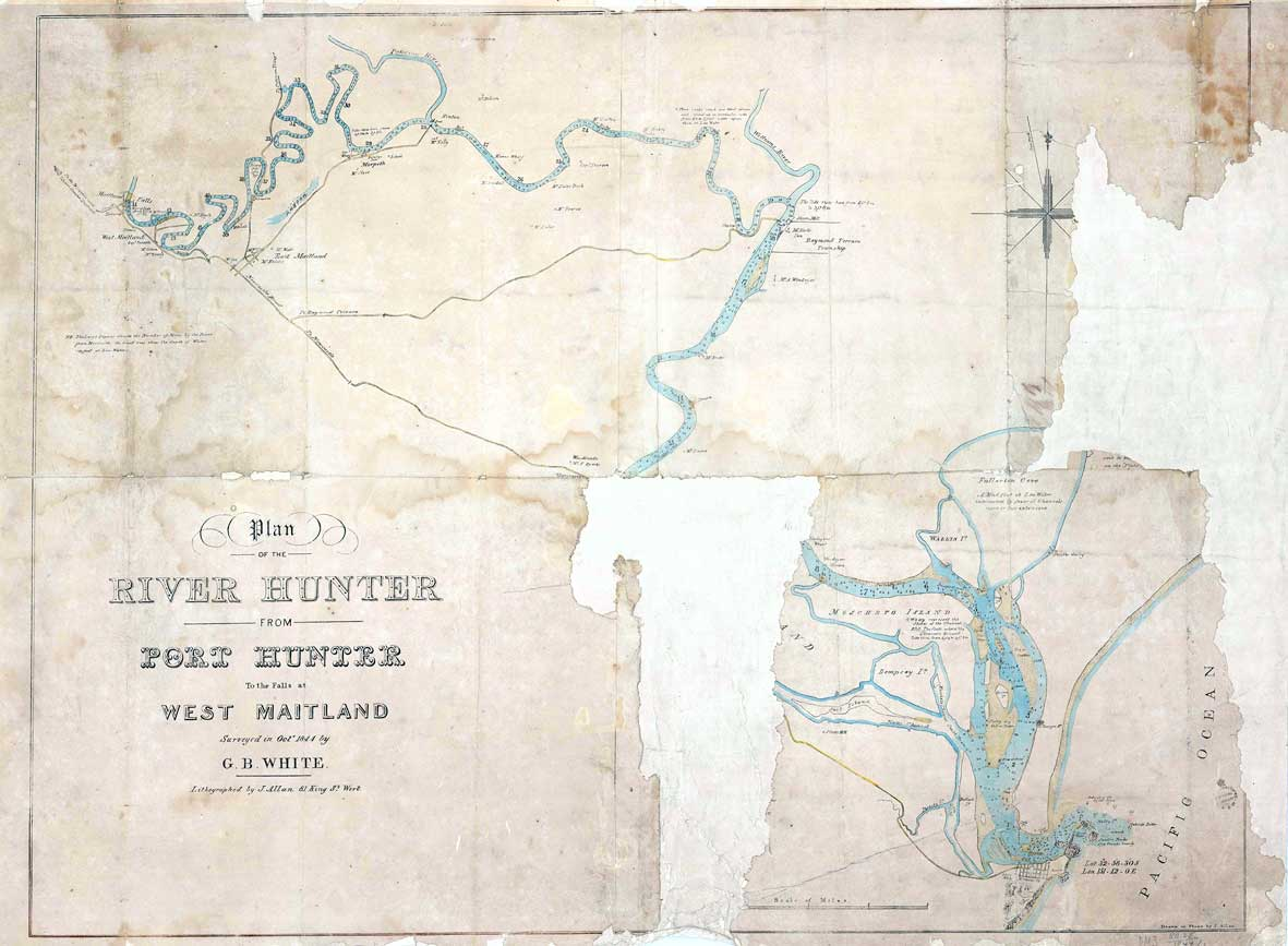 1844 Plan of the Hunter River GB White
