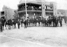Horse and Jockey parade, Newcastle, NSW, Australia [c.1918]