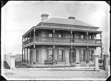 Stuart Keightley's residence, 44 The Terrace, Newcastle, 7 October 1887