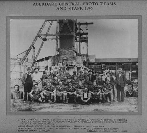 Aberdare Central Proto Teams and Staff, 1948