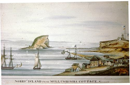Nobby's Island From Mullumbimba Cottage, Newcastle (c.1830s)