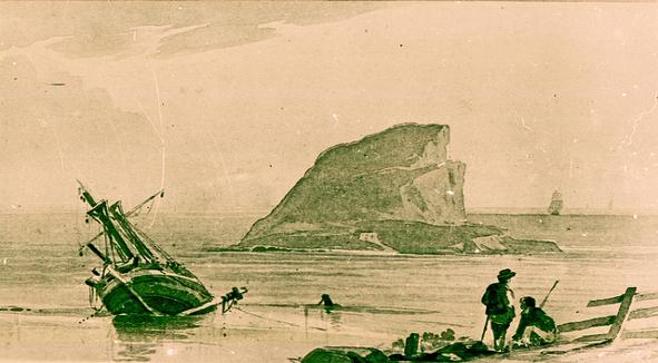 Sketch of Nobbys, Newcastle, NSW, Early 1820s