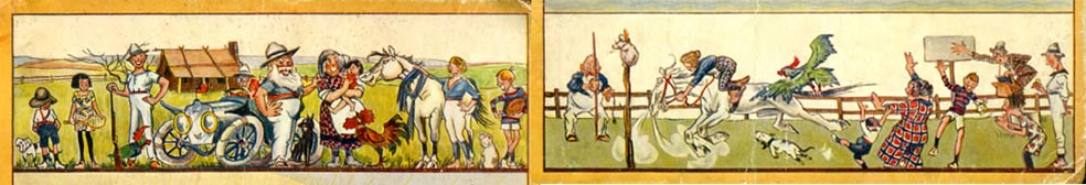 Illustrations from cover of The Sunshine Family