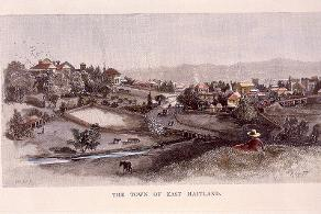 Illustration, 'The Town of East Maitland', artist unknown, undated