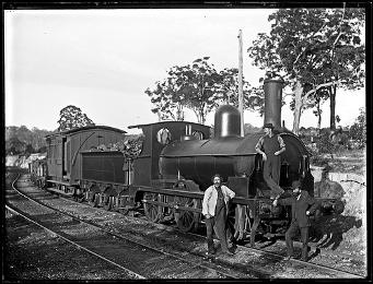 Seaham Coal Company's Locomotive Number 1 'Maori', West Wallsend Colliery siding, West Wallsend, NSW, 28 March 1898